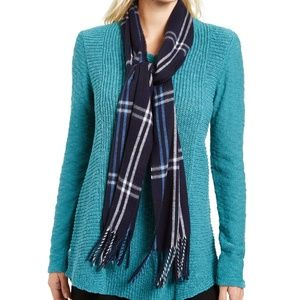 Cejon Grid Plaid Fringe Italian Winter Scarf
